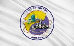 Drapeau de Tucson, Arizona, Etats-Unis Photo libre de droits