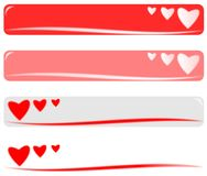 Drapeau de Valentine Photos stock