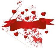 Drapeau de Valentine Photo stock