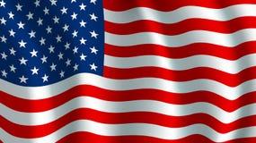 Drapeau de vecteur des Etats-Unis Symbole national américain illustration libre de droits