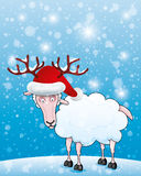 Drapeau de vecteur Moutons Image stock