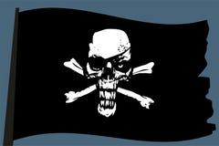 Drapeau de vecteur de pirate Images libres de droits