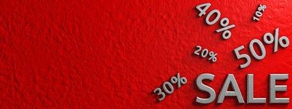 Drapeau de vente Illustration graphique conceptuelle advertising rendu 3d illustration stock