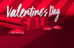 Drapeau de vente de jour du ` s de Valentine illustration de vecteur