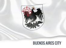 Drapeau de ville argentine de Buenos Aires d'état illustration stock