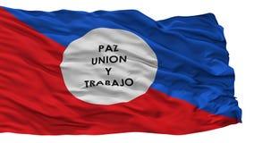 Drapeau de ville de Chimichagua, Colombie, Cesar Department, d'isolement sur le fond blanc illustration de vecteur