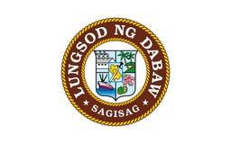Drapeau de ville de Davao, Philippines illustration de vecteur