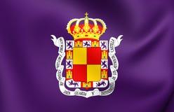 Drapeau de ville de Jaen, Espagne Photo stock