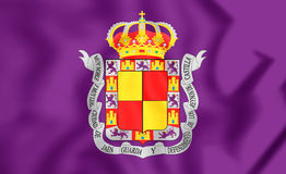 Drapeau de ville de Jaen, Espagne Photographie stock