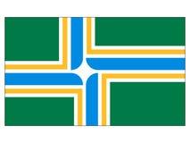 Drapeau de ville des Etats-Unis de Portland, Orégon illustration stock