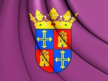 Drapeau de ville de Palencia, Espagne illustration stock
