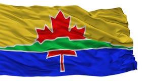 Drapeau de ville de Thunder Bay, Canada, d'isolement sur le fond blanc illustration libre de droits