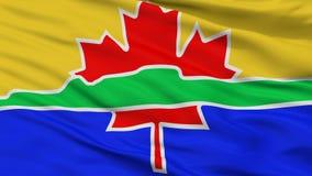 Drapeau de ville de Thunder Bay, Canada, vue de plan rapproché illustration stock