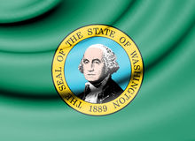 Drapeau de Washington State, Etats-Unis Images libres de droits