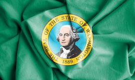 Drapeau de Washington State, Etats-Unis Photos stock