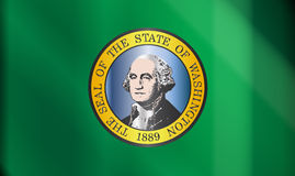Drapeau de Washington State Gloss Image stock