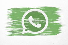 Drapeau de Whatsapp illustration libre de droits