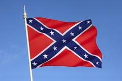 Drapeau des états de l'Amérique confédérés images libres de droits