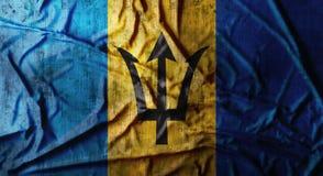 Drapeau des Barbade chiffonné par grunge rendu 3d Photos libres de droits