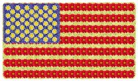 Drapeau des Etats-Unis des fleurs Photographie stock libre de droits