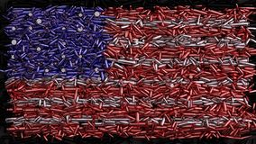 Drapeau des Etats-Unis formé hors des balles illustration stock