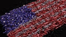 Drapeau des Etats-Unis form? hors des balles illustration stock