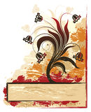 Drapeau des fleurs. Images stock
