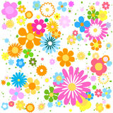 Drapeau des fleurs Background Photo libre de droits