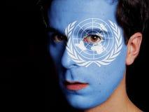 Drapeau des Nations Unies photo stock