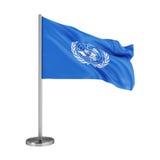 Drapeau des Nations Unies illustration stock