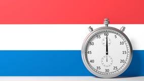 Drapeau des Pays-Bas Image stock