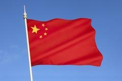 Drapeau des peuples République de Chine photographie stock libre de droits