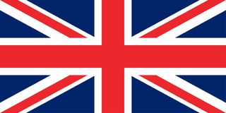 Drapeau des proportions originales de la Grande-Bretagne illustration libre de droits