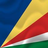 Drapeau des Seychelles Vecteur Image stock
