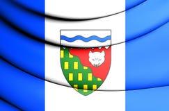 Drapeau des Territoires du nord-ouest, Canada Images libres de droits