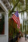 Drapeau des USA dans Smithfield du centre photo libre de droits