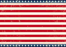 Drapeau des USA horizontal Photographie stock libre de droits