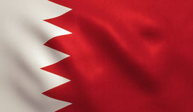 Drapeau du Bahrain Photographie stock