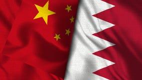 Drapeau du Bahrain et de la Chine - 3D drapeau de l'illustration deux illustration de vecteur