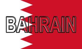 Drapeau du Bahrain Word Image libre de droits