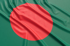 Drapeau du Bangladesh Images libres de droits