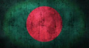 Drapeau du Bangladesh chiffonné par grunge rendu 3d Photo libre de droits