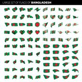 Drapeau du Bangladesh, illustration de vecteur Photographie stock