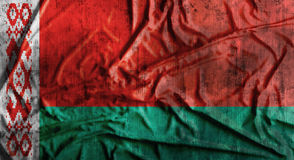 Drapeau du Belarus chiffonné par grunge rendu 3d Image libre de droits