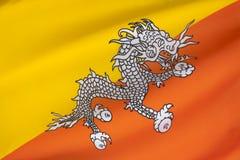 Drapeau du Bhutan Photo stock