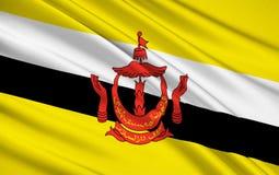 Drapeau du Brunei - le Bornéo photo stock