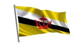 Drapeau du Brunei Une série de drapeaux de ` du monde ` Le pays du drapeau du Brunei de drapeau Photo libre de droits
