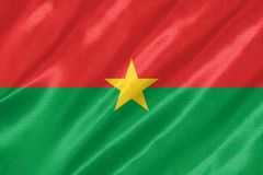 Drapeau du Burkina Faso illustration libre de droits