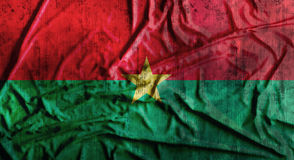 Drapeau du Burkina Faso chiffonné par grunge rendu 3d Photo stock