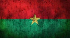 Drapeau du Burkina Faso chiffonné par grunge rendu 3d Image libre de droits